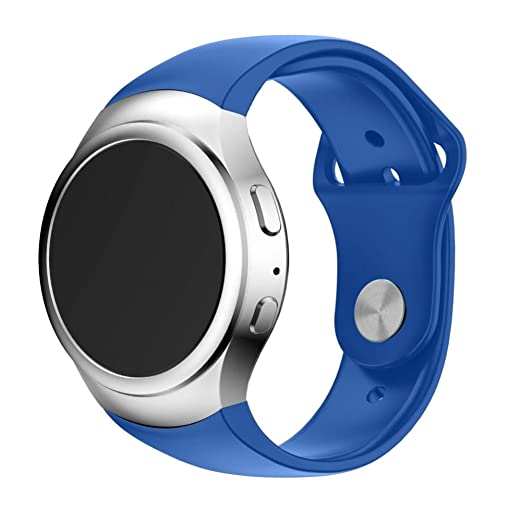 VESNIBA Luxury Silicone Watch Band Strap for Samsung Galaxy Gear S2 SM-R720 Smart Watch