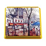 Souvenirs of France - 'Place du Tertre' (Montmartre) Double Handbag Mirror