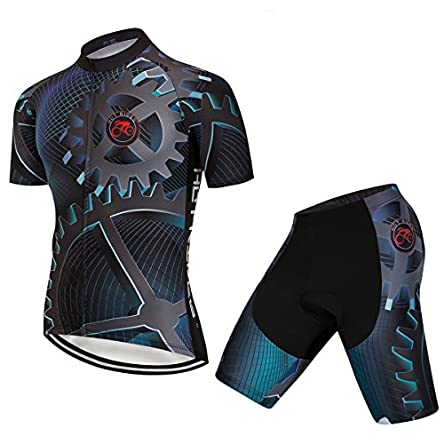 Hot Rides Men's Quick Dry Cycling Jersey and...