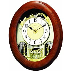 Rhythm Clocks Joyful Nostalgia Oak Magic Motion Clock