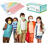 50 PC Disposable 3 Layer Face Cover Print Pattern Face Macks for Kids , Disposable Elastic Ear Loop Adjustable