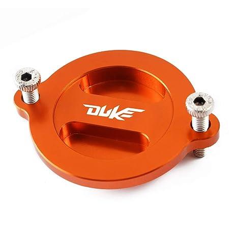 motocicleta accesorios CNC naranja tapa de motor Filtro de aceite para Duke 125 200 390: Amazon.es: Coche y moto
