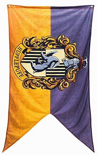 Oyster-Flag Harry Potter Hogwart 4 Houses Indoor Printed Wall Banner Outdoor Flag (Hufflepuff)