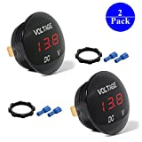 DC 12V-25V LED Panel Digital Voltage Meter Display Voltmeter For Automotive Car ATV UTV Camper Caravans Travel Trailer Motorbike Boat