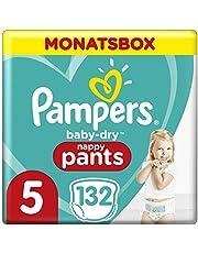 Pampers Baby-Dry Pants, Gr. 5, 12kg-17kg, Monatsbox (1 x 132 Pants)