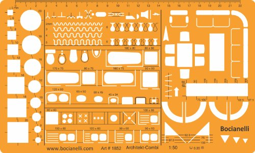 Amazon.com: Metric 1:50 Scale Architectural Drawing Template Stencil ...