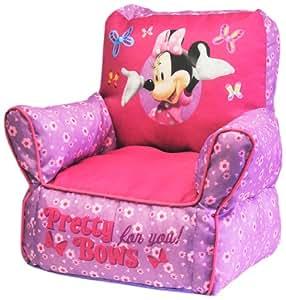 Amazon Com Disney Minnie Mouse Bean Bag Sofa Chair Toys