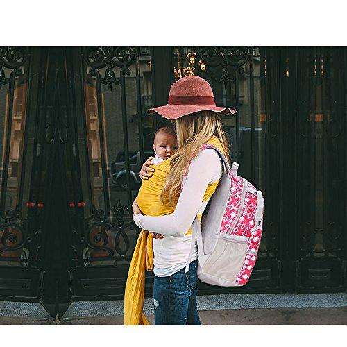 LanDuo Mujer Deportes al aire libre mochila tamaño L), color rojo flores