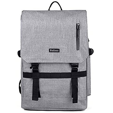 Image Unavailable. Image not available for. Color  PADIEOE Vintage Leather  Backpack Laptop Messenger Bag Rucksack Sling for Men Women ... e3d297dfa94f6