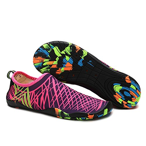 Beach Footwear Barefoot Sport Water Dry Water Men Sports Fitness Quick Skin Sole Pool Rose Yoga Aqua Socks Rubber Water with Shoes For Camp Shoes Women W77rqPH