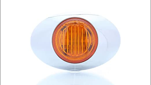 Vehicle Safety Manufacturing 3005A ML3K Amber LED Marker Lamp with Chrome Bezel
