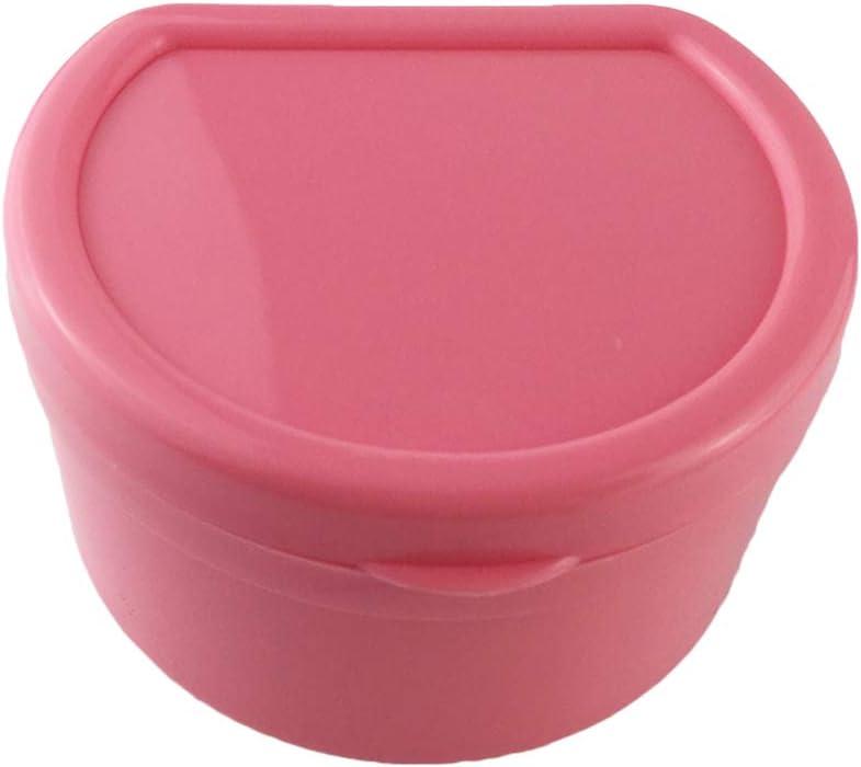 SUPVOX Caja de Dentadura Estuche de Almacenamiento Dental para Protesis con un Filtro de Red (rosa): Amazon.es: Salud y cuidado personal