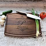 Personalized Engraved Cutting Board Walnut Maple Wedding Couples Gift