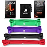 LYOU Resistance Bands Pull Up Assist Bands Exercise Powerlifting Bands for Body Stretching, Resistance Training (4 Color)