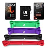 LYOU Resistance Bands Pull Up Assist Bands Exercise Powerlifting Bands...