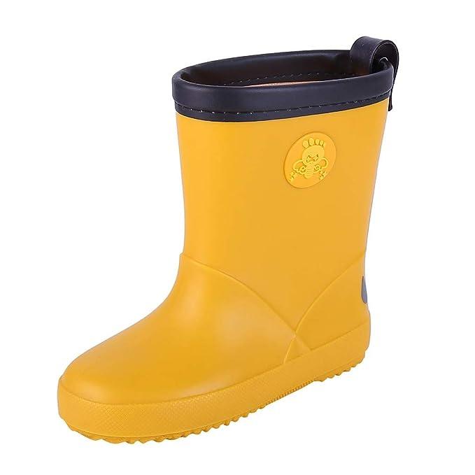 Botas de Agua Niños Niñas Baiomawzh-Zapatos De Lluvia De ...