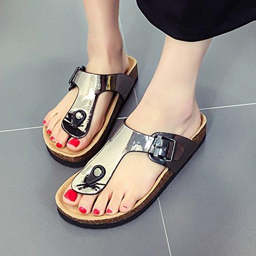 Chaussures Gris Tongs Chaussures Sandales Para Sandales Unisexes Paillettes ZongSen Femme qgz8q