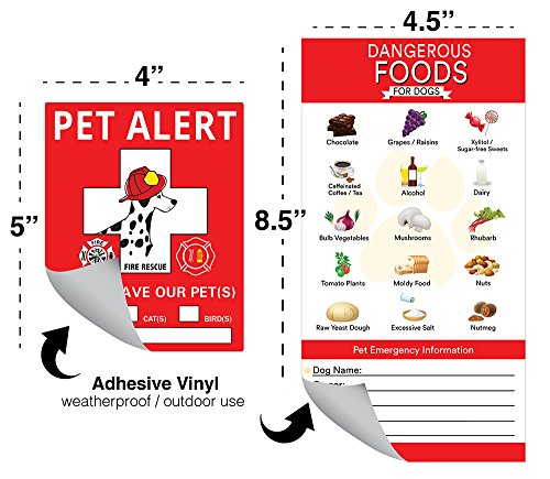 Get Quotations · Firefighter Pet Alert Stickers - 3M Reflective 3