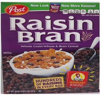 Breakfast Cereal: Post Raisin Bran