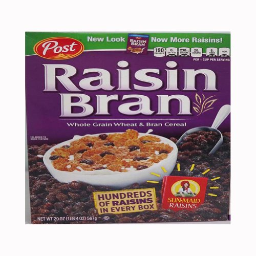 Post Raisin Bran Cereal, 20-Ounce Boxes (Pack of 4)