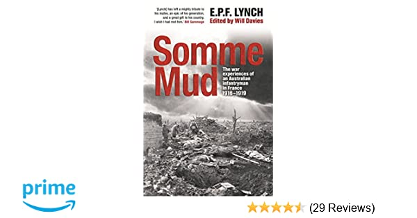 Amazon Somme Mud 9781741668940 Private E P F Lynch Books