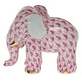 Herend Miniature Elephant Raspberry Fishnet