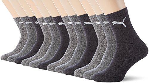 Frotteesohle Antracite Sponge Confezione Grigio Socks Short Crew Puma sportive da 12er Calze Mit 12 Uomo 207 Sportsocken q7tIZx