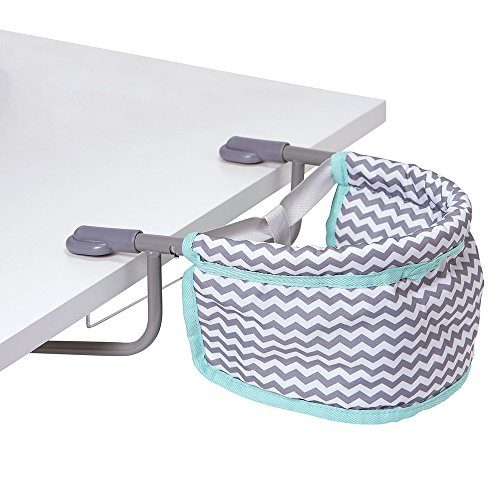 Adora Doll Accessories Portable Table Zig Zag Feeding Seat Gender Neutral Teal Pattern Design for Kids 3 years & up