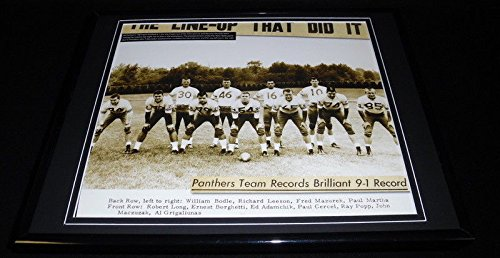 1963 Pitt Panthers Football Team Framed 11x14 Photo Display