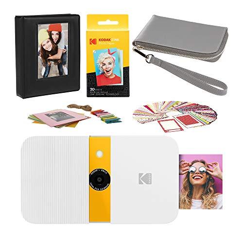 KODAK Smile Instant Print Digital Camera (White/Yellow) Carrying Case Kit