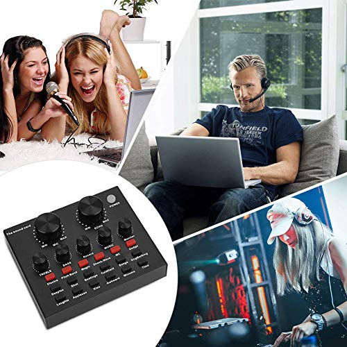 KOKITEA Live Sound Card, Voice changer device for  PS4/Xbox/Phone/iPad/Computer,Sound Card with Multiple Funny Sound Effect,  for Recording YouTube