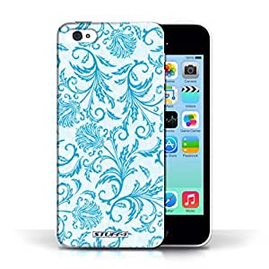 KOBALT? Protective Hard Back Phone Case / Cover for Apple iPhone 5C | Blue Flowers Design | Floral Pattern Collection by lolosakes