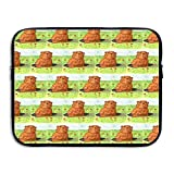 Portable 13-15 Inch Laptop Sleeve, Neoprene Fabric Groundhog Day Pattern Single Face Protective