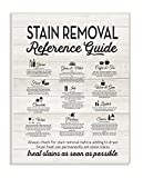 Stupell Home Décor Stain Removal Reference Guide Typography Wall Plaque Art, 10 x 0.5 x 15, Proudly Made in USA