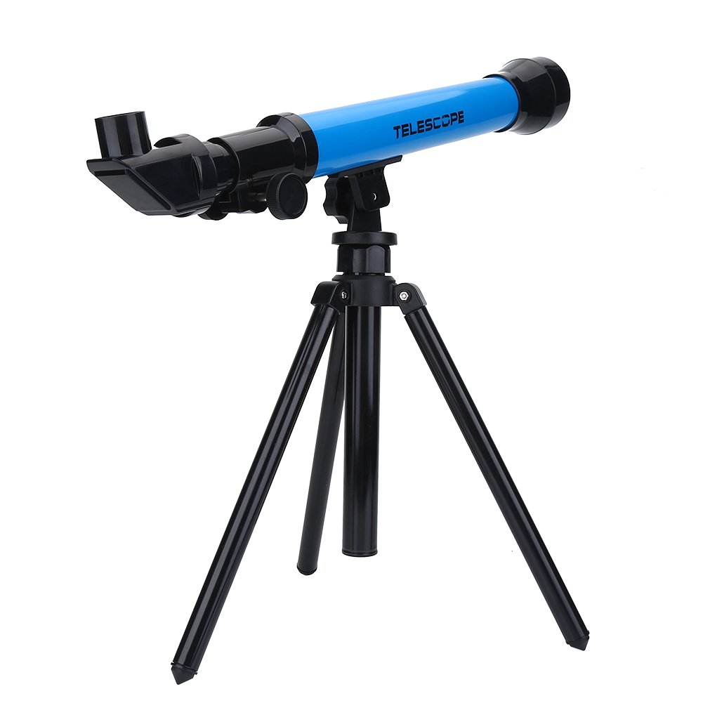 Telescope for Children, Kids Astronomical Telescope Educational Toy with Tripod Monocular Space Astronomical Telescope for Kids Beginners with 20X/40X/60X Eyepiece Magnification(Blue)