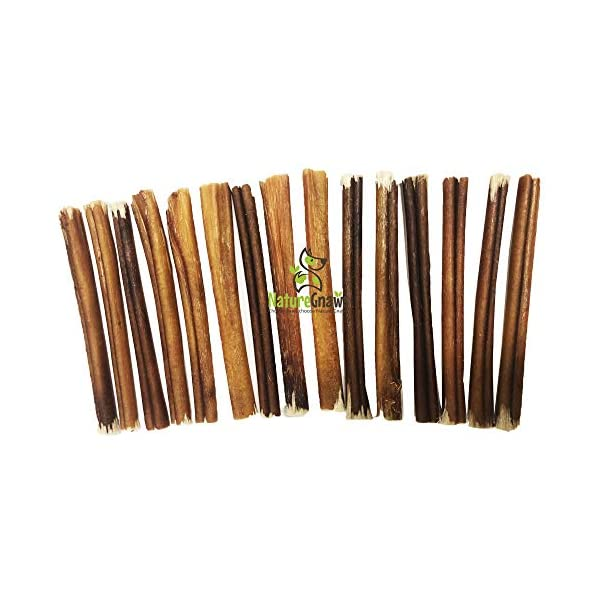 Nature Gnaws Small Bully Sticks - 100% Natural Grass-Fed Free-Range Premium Beef Dog Chews - Single Ingredient & Long Lasting Chew Treats for Dogs 3