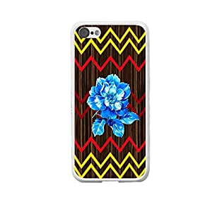 Cute Yellow and Red Chevron Design for Iphone 5c Hard Wood Pattern Print Case Cover (white)