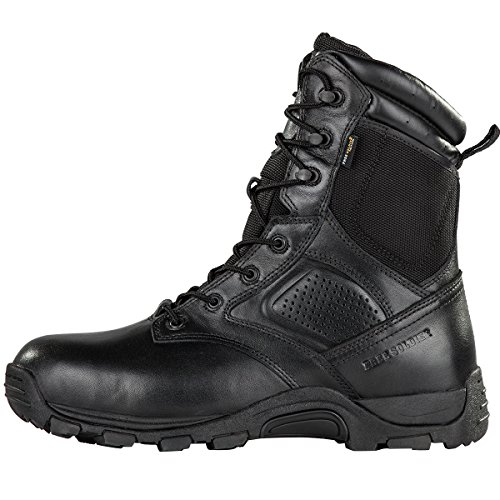 Steel Toe Tactical Boots - FREE SODLIER Waterproof Shoes Penetration Resistant Composite Toe Combat Boot(Black 12.5) by FREE SOLDIER (Image #1)