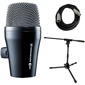 sennheiser e902 kick drum bass dynamic microphone with stand and cable bundle. Black Bedroom Furniture Sets. Home Design Ideas