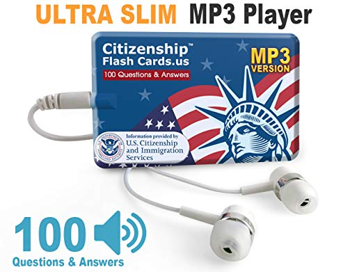 US Citizenship Test Civics Flash Cards for The Naturalization Exam 2019 | Includes MP3 Player with All Official 100 USCIS Questions and Answers | USCIS N-400. Get Ready for The Immigration Test. (Best Answer Tests Include)