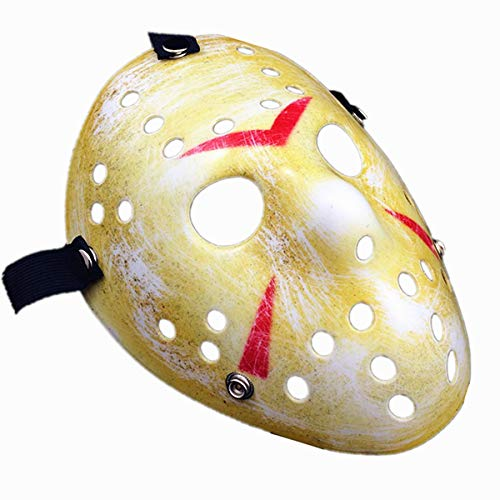 URDEAR Cosplay Costume Masks Friday The 13th Jason Masks Halloween Thicken Horo Jason Mask Masquerade Paty Masks Costume Accessory Yellow