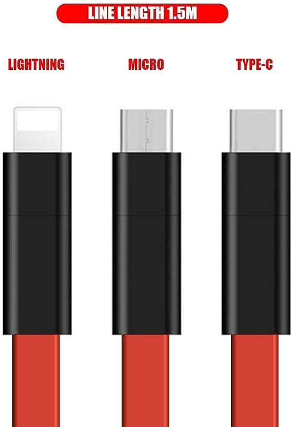0,5 m POHOVE C/âble de charge magn/étique 3 en 1 pour transfert de donn/ées Smartphone /à la maison stable sy Operate Accessoires de t/él/éphone portable pratique et multifonction
