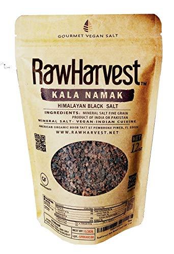- RawHarvest Kala Namak (Himalayan Black Salt) Coarse 12 oz