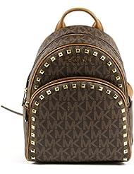 Michael Michael Kors Abbey Vanila/Signature Medium Frame out Stud Backpack