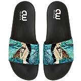 MOTHER & DAUGHTER MERMAID ART Summer Slide Slippers For Boy Girl Outdoor Beach Sandal Shoes size 13