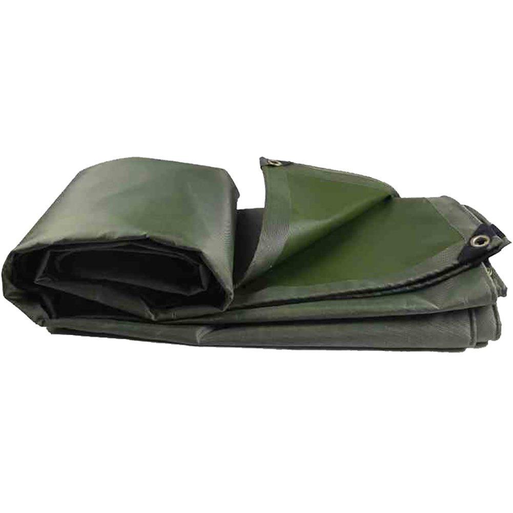 GUOWEI-pengbu ターポリン キャンバス リノリウム シェード 日焼け止め 防水 防塵の 老化防止 屋外 個人的なカスタマイズ (色 : 濃い緑色, サイズ さいず : 4.8x5.8m) 4.8x5.8m 濃い緑色 B07G3BCZ6K