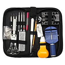 Baban 144 Pcs Watch Repair Kit, Spring Bar Tool Watch Band Link Pin Remover Tool Set with Zipper Case