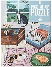 Talking Tables 500-delige meerkleurige katten thuis legpuzzel en poster, Gellustreerde huisdieren, dieren, Voor kinderen, volwassenen, kattenliefhebber, verjaardag, Kerstmis