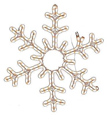 American Lighting LED-WW-HSM-SNOWF24 Snowflake Holiday Rope Light Motif