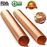 Best BBQ Grill Mat, Set of 3 Heavy Duty, Non-stick Grill Mat 16 x 13 inches, Gold Brown Colour. Reusable and Easy to…